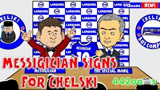 MESSI TO CHELSEA FC (TRANSFER WINDOW 2015 CARTOON) Jim White Parody by 442oons Football Cartoon