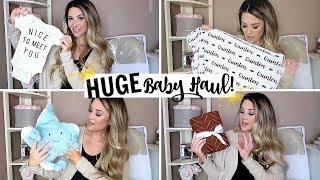 HUGE NEWBORN BABY HAUL! 👶🏻 NEUTRAL MUST HAVES! | Liza Adele