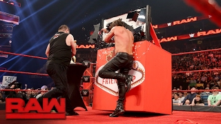 Kevin Owens attacks Chris Jericho during the
