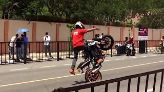 ktm stunt show near wipro CDC 7 chennai
