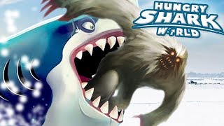ROBOT SHARK EATS THE YETI!!! - Hungry Shark World   Ep 68 HD