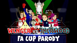 ☕️FA CUP FINAL 2015☕️ Wenger vs Sherwood Rap Battle (PARODY football cartoon)