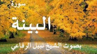 سورة البينة بصوت نبيل الرفاعي