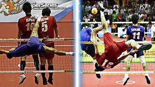 Sepak Takraw ● Top 10 Spikes Over Double/Triple Blocks | HD
