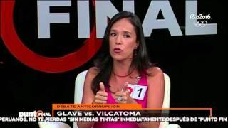 Jenny Vilcatoma vs. Marisa Glave: Mira el debate anticorrupción
