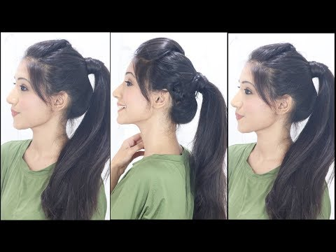 Xxx Mp4 3 Simple Cute Ponytail Hairstyles For Indian School College Girls 3gp Sex