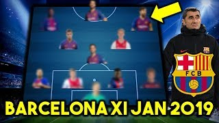 FC Barcelona Possible Line Up XI January 2019 Ft De Ligt, De Jong & Others...