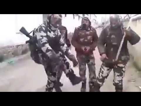 Indian CRPF jawans dancing on kashmiri song