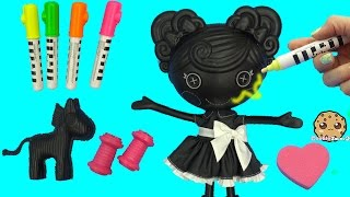 Lalaloopsy Trace E Doodles Color Me Draw with Markers & Stamp Doll Cookieswirlc Video