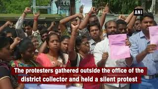 Deaf-mute youth protest against seeking government jobs
