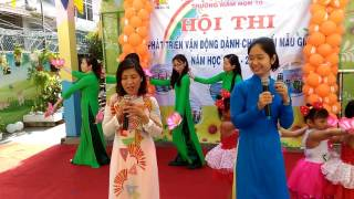 Hát múa cô và trẻ Mầm non hạnh phúc thân yêu - Trường Mầm Non 10 quận 3