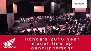 Honda's 2016 year model line-up announcement