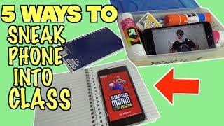 5 Smart Ways To Sneak Your Phone Into Class- SCHOOL LIFE HACKS