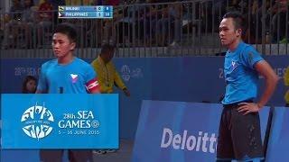 Sepaktakraw Mens Doubles BRU vs PHI (Day 9) | 28th SEA Games Singapore 2015