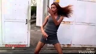 Brazilian slim shemale dance for you