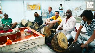 Amazing Indian Drums: Master drummer is giving free lesson (Rajasthan, India)