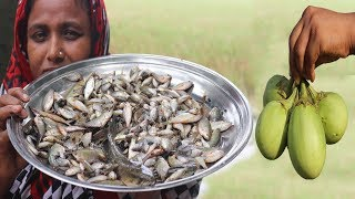 Village Food Small Fish With Eggplant Recipe Delicious Cooking Farm Fresh Yummy Eggplant Recipe