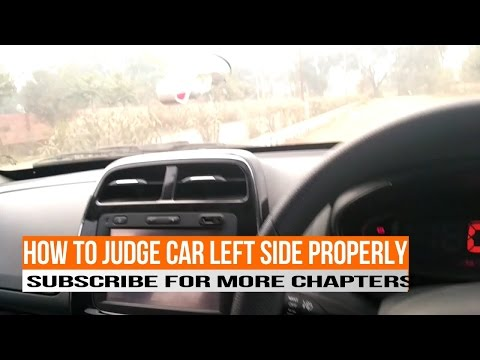 Renault kwid : how to judge car left side and park properly CHAPTER -11 ( hindi )