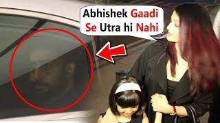 Abhishek Bachchan RUDE Behaviour With Wife Aishwarya Rai & Daughter Aaradhya At Airport
