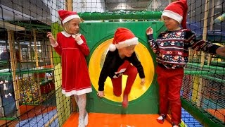 Christmas Magic at Busfabriken Indoor Playground (play center fun for kids)
