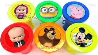 Learn Colors Squishy Slime Fart Noise Surprise Toys Nursery Rhymes Disney Kinder Surprise Superhero