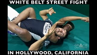 White Belt STREET FIGHT in Hollywood! (Gracie Combatives in Action)