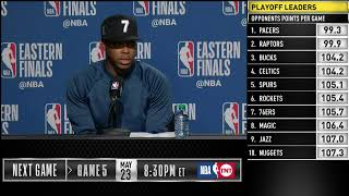 Kyle Lowry Press Conference   Eastern Conference Finals Game 4