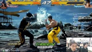 2017/04/21 Tekken 7 FR Knee's Stream 무프리카! Guest Chikurin