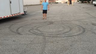 Motorized Trailer Dolly - 7400lbs Tandem axle trailer doing donuts on the spot!