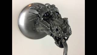 Time Lapse How to Weld A Dragons Head Sculpture from Scrap Recycled Metal