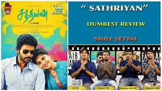 Sathriyan Movie Review   Dumbest Review   Vikram Prabhu, Majima Mohan Smile Settai