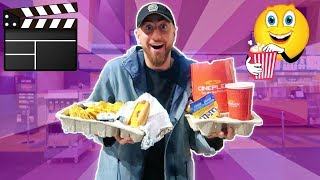 I Only Ate MOVIE THEATER Foods For 24 HOURS! (IMPOSSIBLE FOOD CHALLENGE)