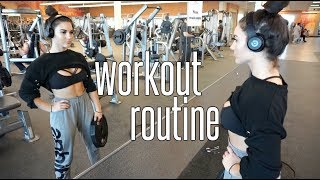 MY GYM WORKOUT ROUTINE! Get FIT with me!