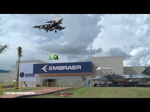 Fábrica do caça Gripen N é inaugurada no Brasil  - Gripen N Jet Fighter factory opens in Brazil