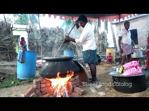 Amazing Cooking Village Style Sambar Recipe Prepared 500 People Hindu Function   Street Food Catalog