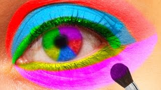 Eye Painting Learn Colors for Children Body Painting Finger Family Nursery Rhymes Watercolours Paint