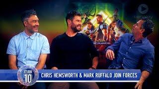Chris Hemsworth, Mark Ruffalo & Taika Waititi Talk