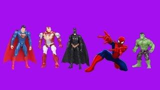 Superheroes Finger Family Song - Superman, Batman, Spiderman, Hulk & more! 1 1