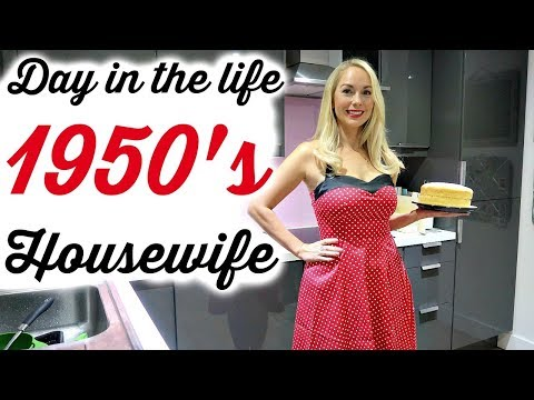 1950'S HOUSEWIFE FOR A DAY     1950's CLEANING ROUTINE