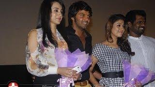 Arya's Bad Words in front of Trisha and Nayanthara in Amarakaviyam Audio launch