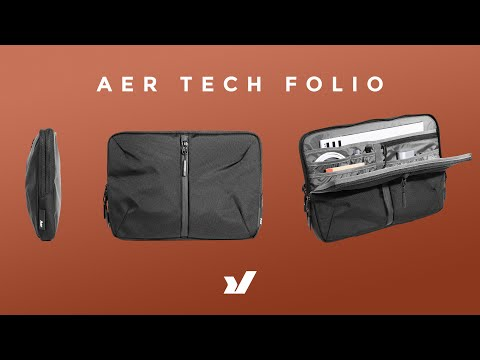Slim Hand Carry For Laptop & Essentials The New Aer Tech Folio