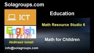 Math Resource Studio 6