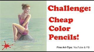 Challenge: Drawing With Cheap Color Pencils - A Woman