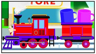 Train Playing w/ CARS FOR KIDS - New Animation - Cars & Trains Cartoon