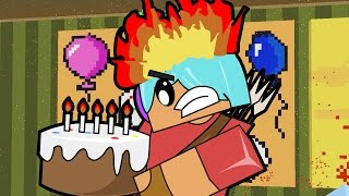 This Cake Makes me SO Angry! / Minecraft Pixel Painters / Gamer Chad