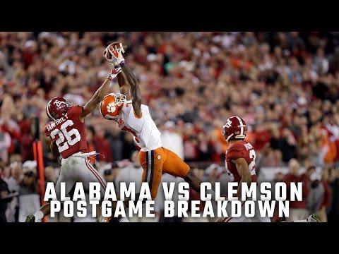 Postgame Report Alabama vs. Clemson
