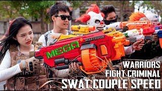 GUGU Nerf War : Perfect Couple CID Dragon Nerf Guns Fight Criminal Group Mask