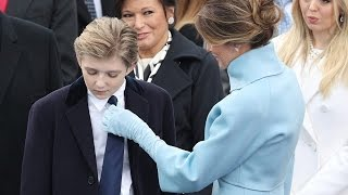 Barron Trump plays an adorable game of peekaboo with Ivanka