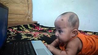 Computer Baby Raisha 3 months