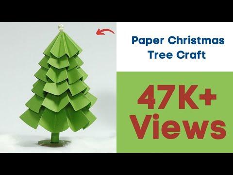 Paper Christmas Tree Craft - DIY Christmas Tree Tutorial